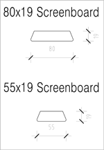 Screenboard 80x19 and 55x19